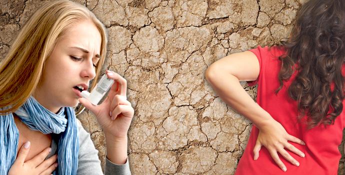 La déshydratation provoque l'arthrose, le mal de dos, l'asthme