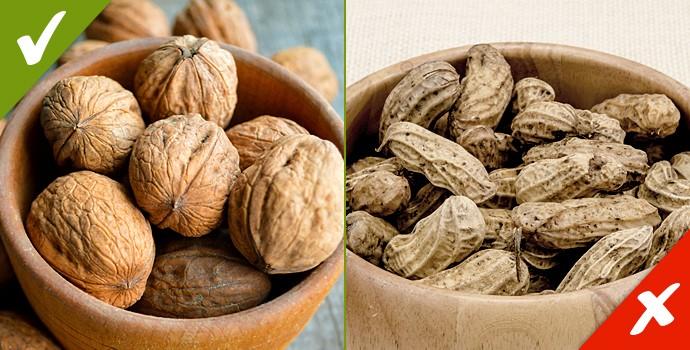 Les meilleures et les pires noix pour la santé