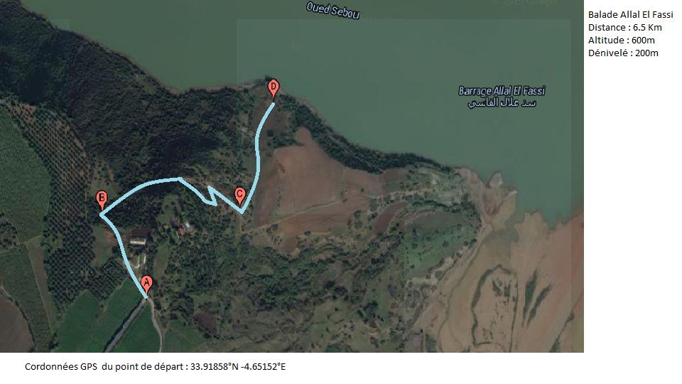 Carte randonnée Allal el Fassi