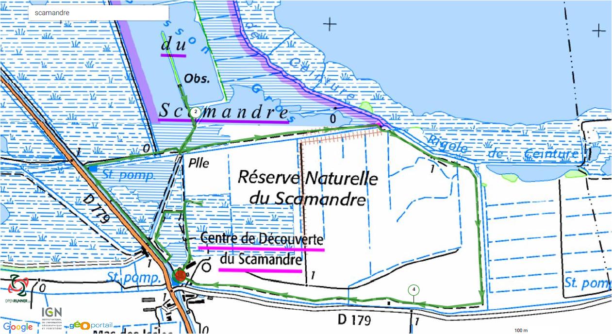 Carte randonnée Scamandre