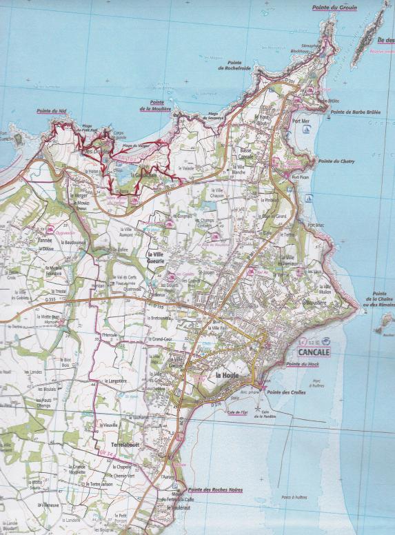 Carte randonnée Le verger