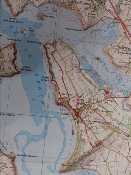 Carte randonnée Saint Suliac