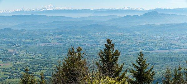 Innimond, Panorama sur les Alpes